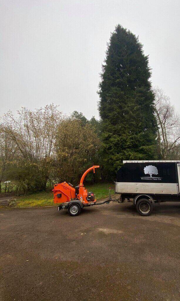 waterman tree co truck & chipper